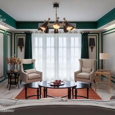浪漫108平美式三居客厅装饰图片