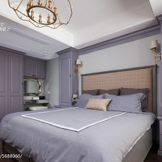 2018107平米三居卧室美式设计效果图