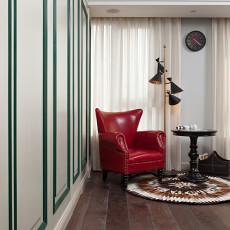 质朴95平美式三居卧室装饰图