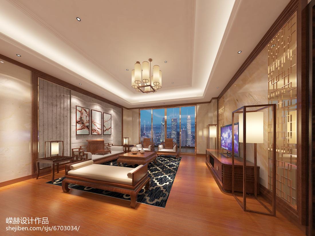 低奢质感现代化客厅装修效果图