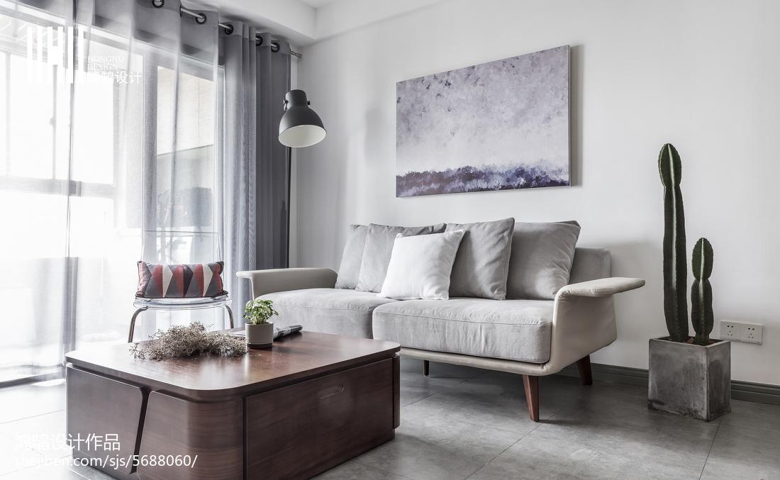 2018精选面积83平北欧二居客厅实景图