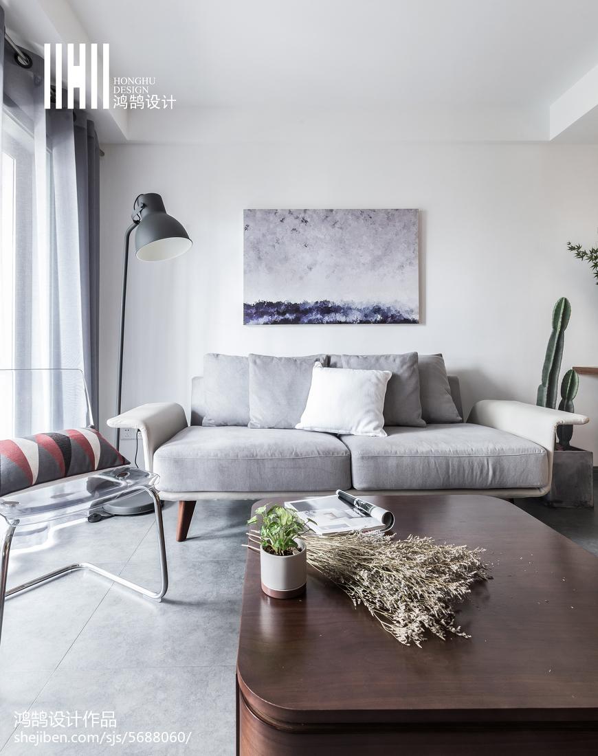 2018精选面积72平北欧二居客厅效果图片欣赏