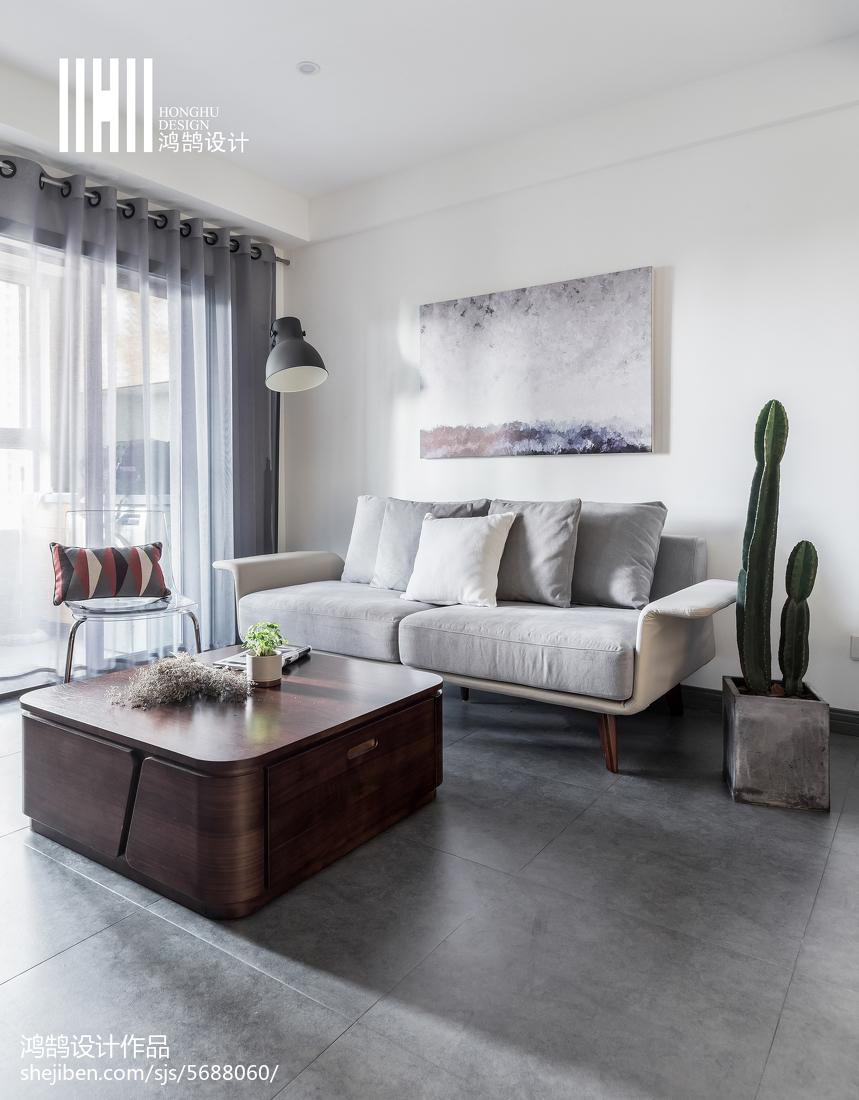 精选90平米二居客厅北欧装修效果图
