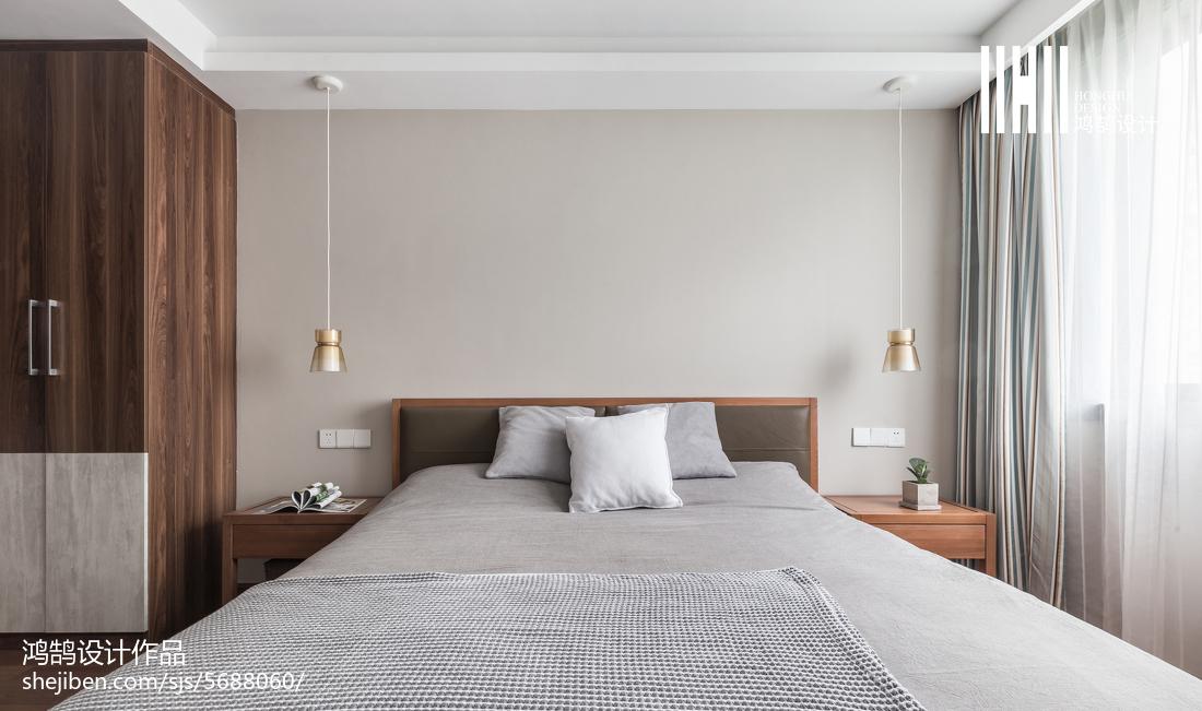 2018精选面积82平北欧二居卧室欣赏图片