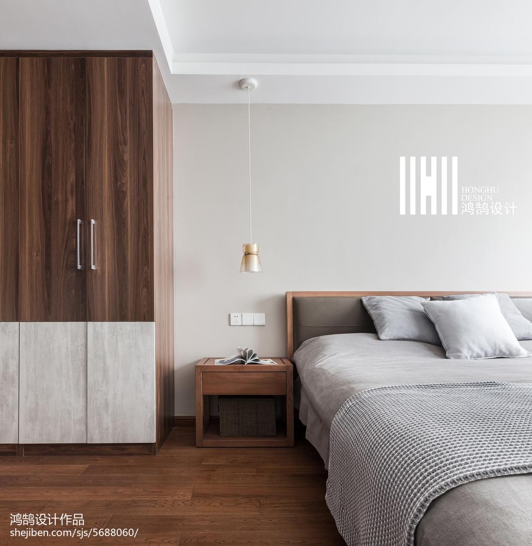 2018二居卧室北欧装修实景图片