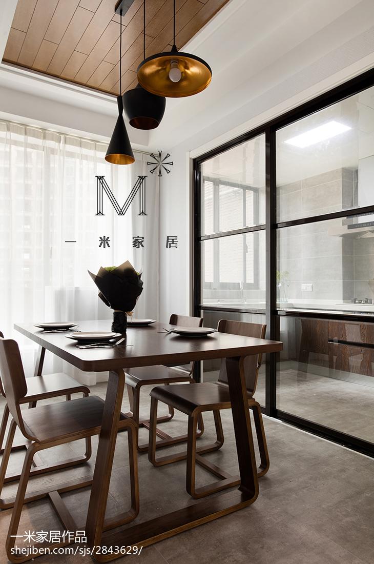 2018精选96平方三居餐厅现代装修效果图