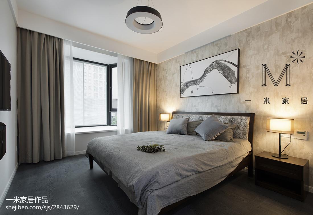热门大小97平现代三居卧室装修设计效果图片