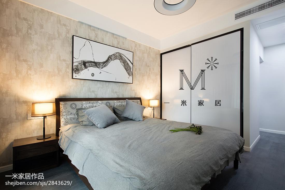 精美面积90平现代三居卧室装修效果图片大全