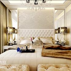 热门面积100平新古典三居卧室装修效果图片