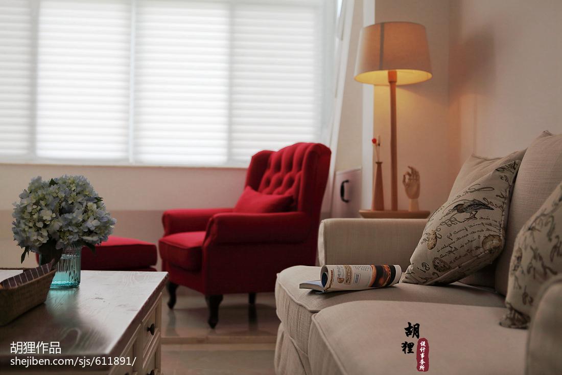 大气63平北欧复式客厅装潢图
