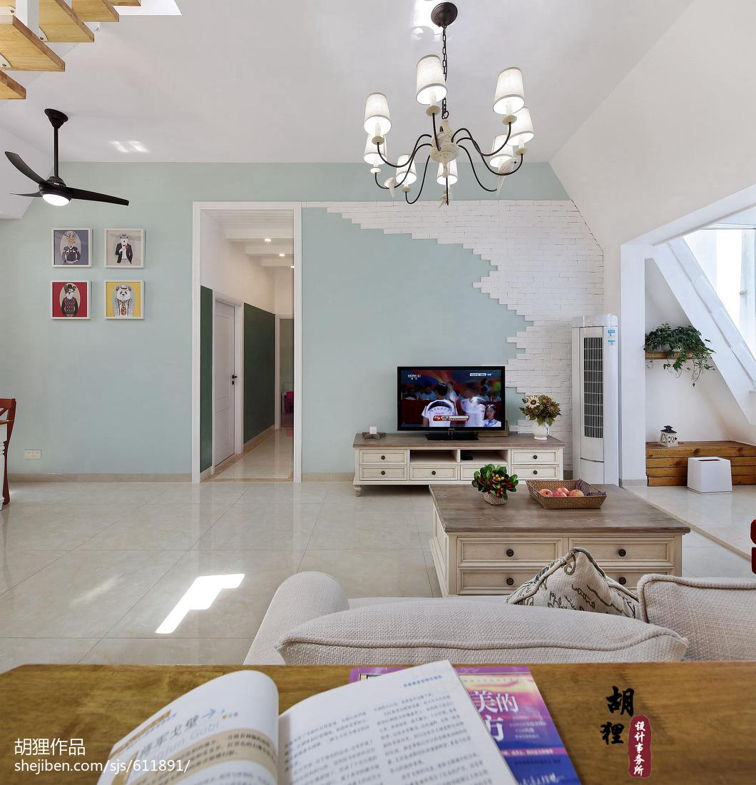 简洁67平北欧复式客厅效果图片大全
