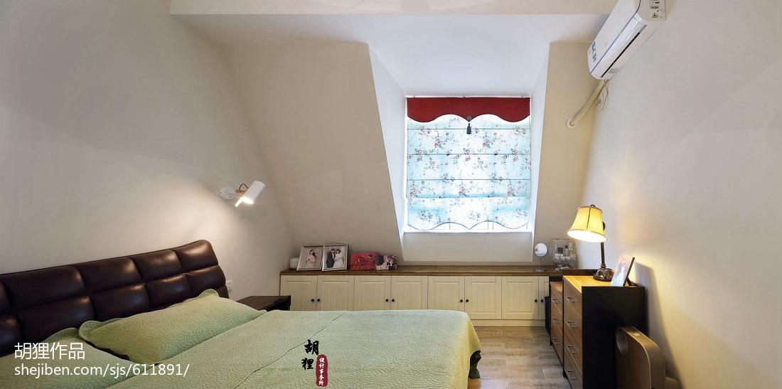 质朴51平北欧复式卧室实景图