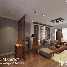 面积74平现代二居客厅装修效果图片大全