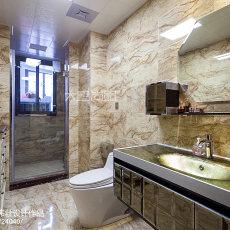 热门面积98平欧式三居卫生间欣赏图