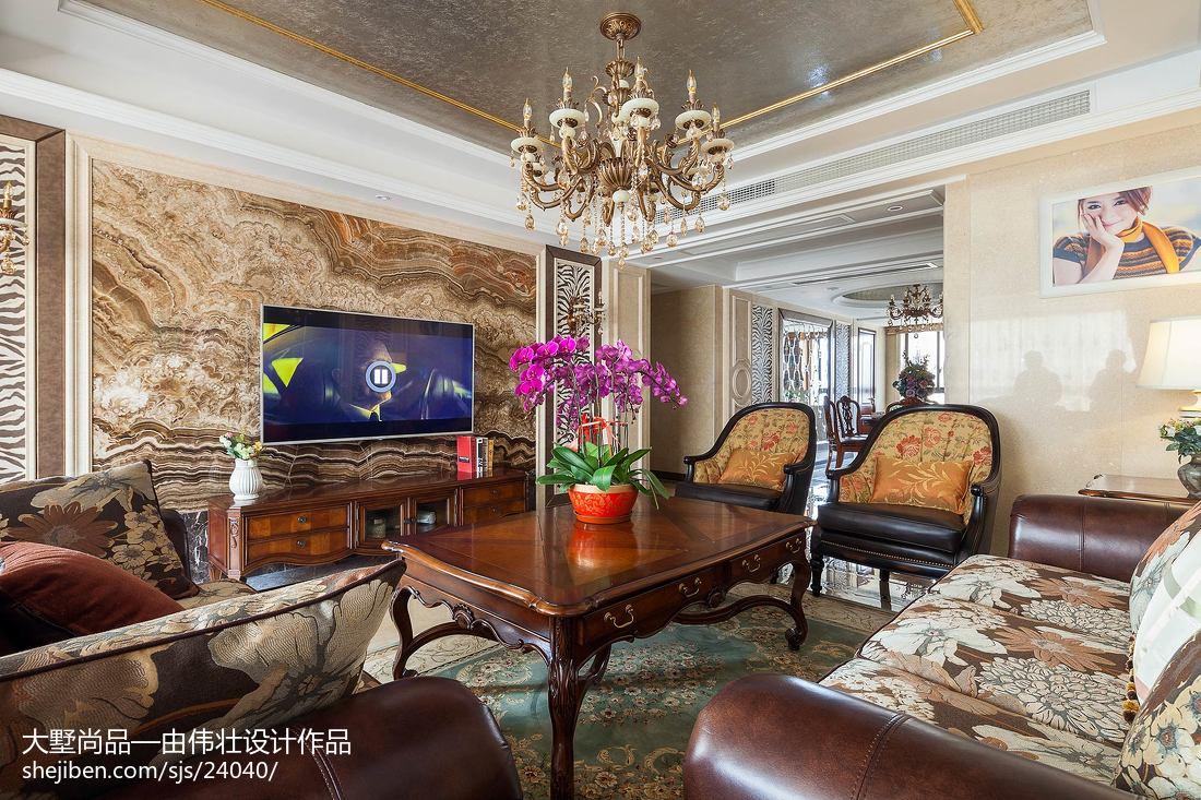 歐式風格客廳電視背景墻設計