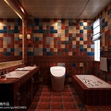 201895平米三居卫生间美式装修设计效果图片欣赏