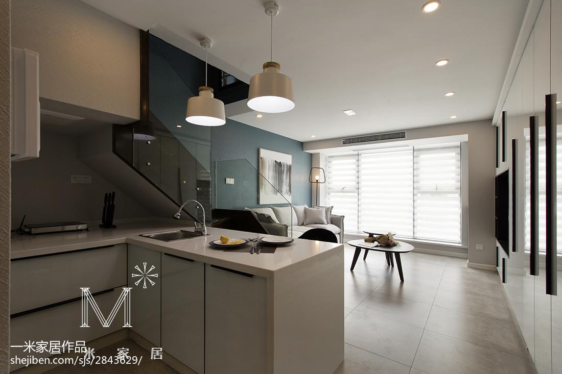 面积78平小户型厨房现代装饰图片欣赏