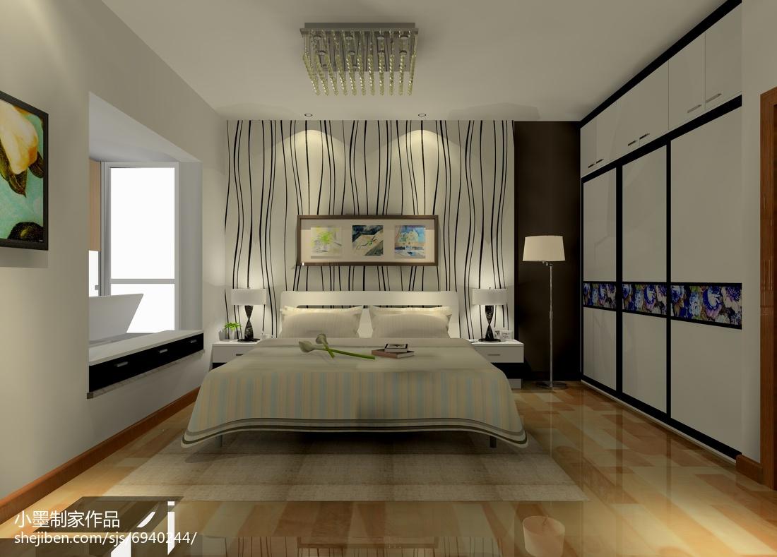 热门82平米二居卧室简约装修实景图片欣赏