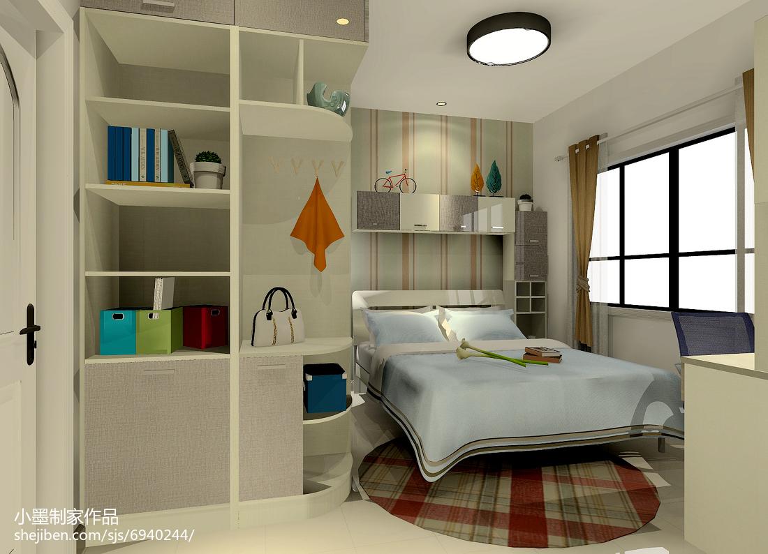 清新温馨的简约风格装修卧室图片