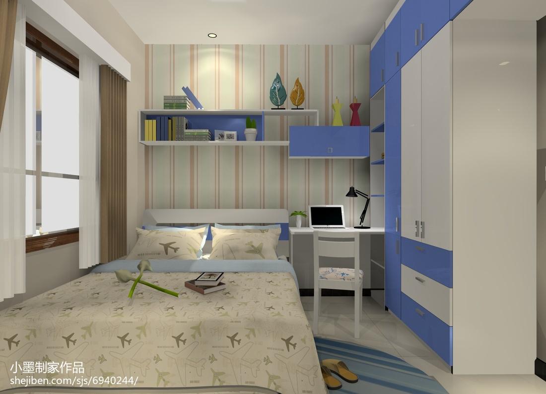 清新温馨的简约风格装修儿童房图片