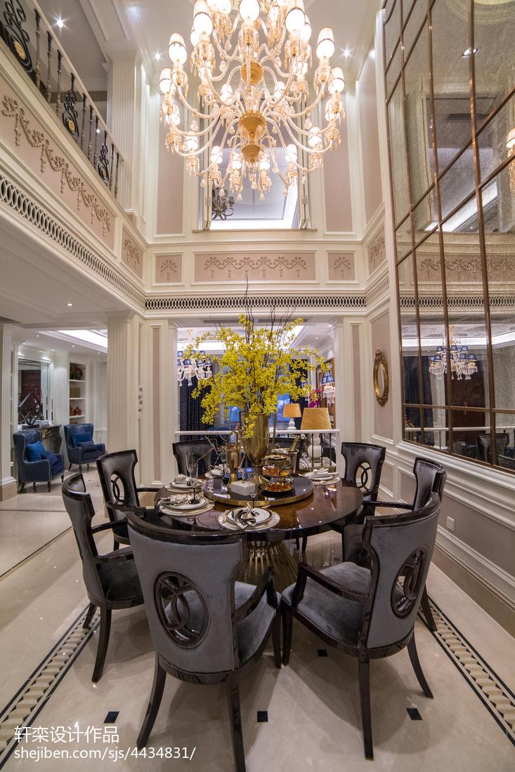 2018117平米欧式别墅餐厅欣赏图片
