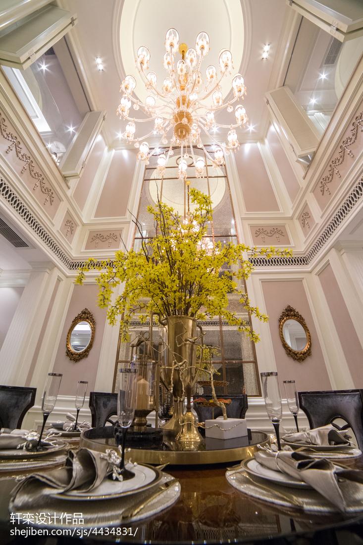 精选面积126平别墅餐厅欧式设计效果图