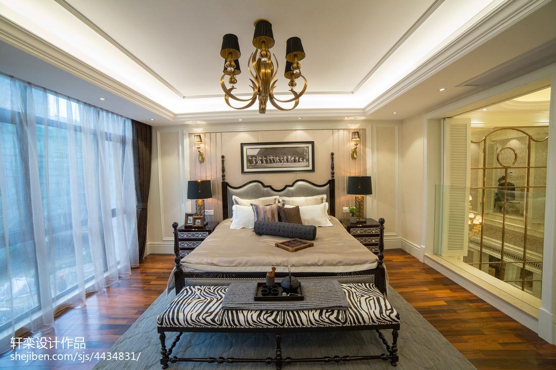 精选127平方欧式别墅卧室装修图片