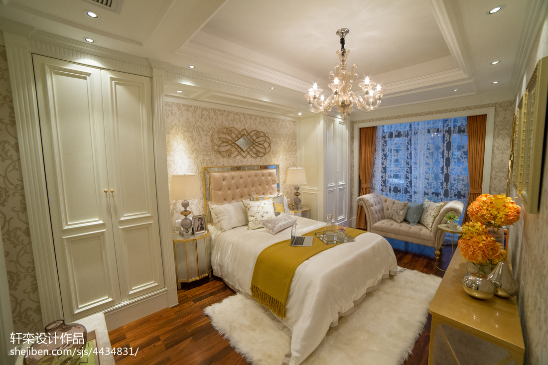 奢华欧式别墅卧室布局图
