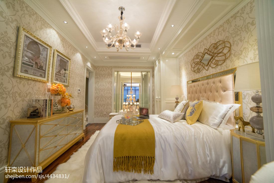 热门114平米欧式别墅卧室装修欣赏图