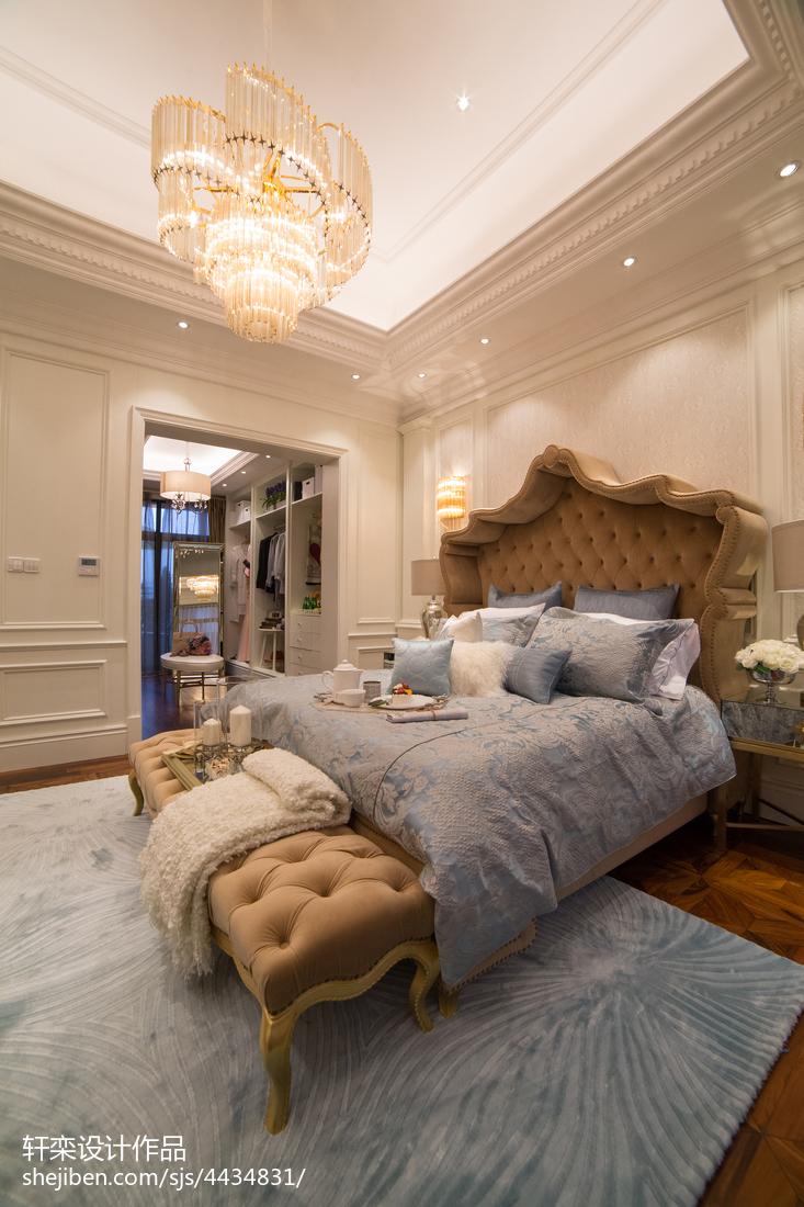 热门133平米欧式别墅卧室装修效果图片