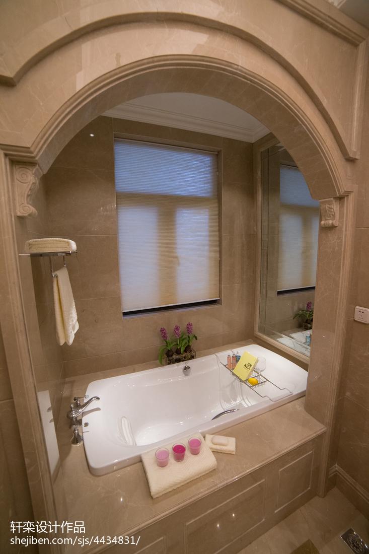 128平米欧式别墅卫生间装饰图片大全