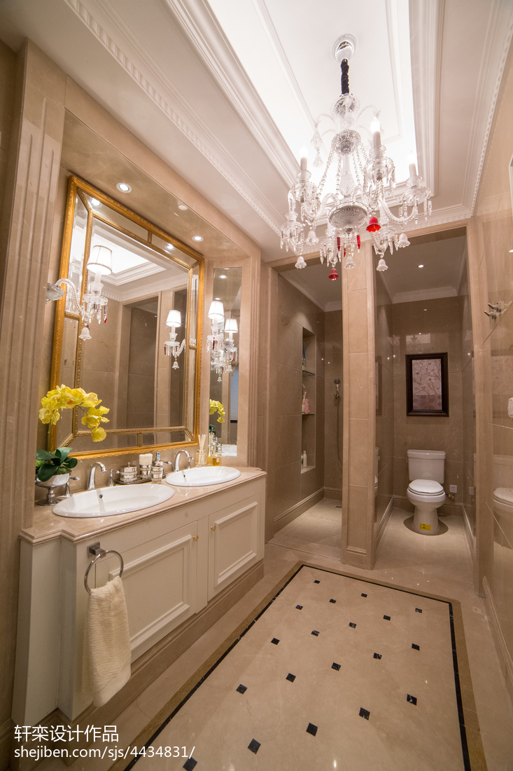 精美119平米欧式别墅卫生间实景图片大全