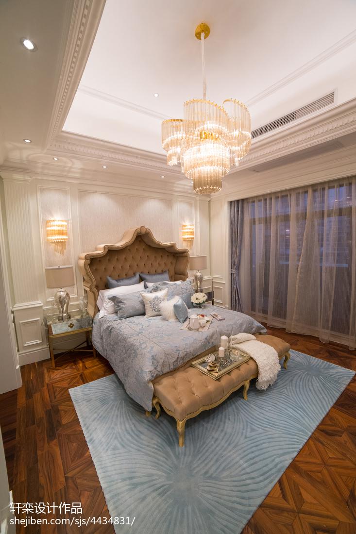 别墅卧室欧式装修设计效果图片