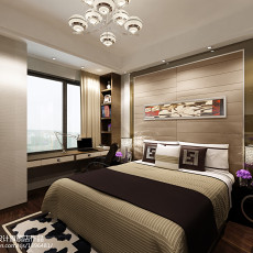 面积109平简约三居卧室装修效果图片欣赏