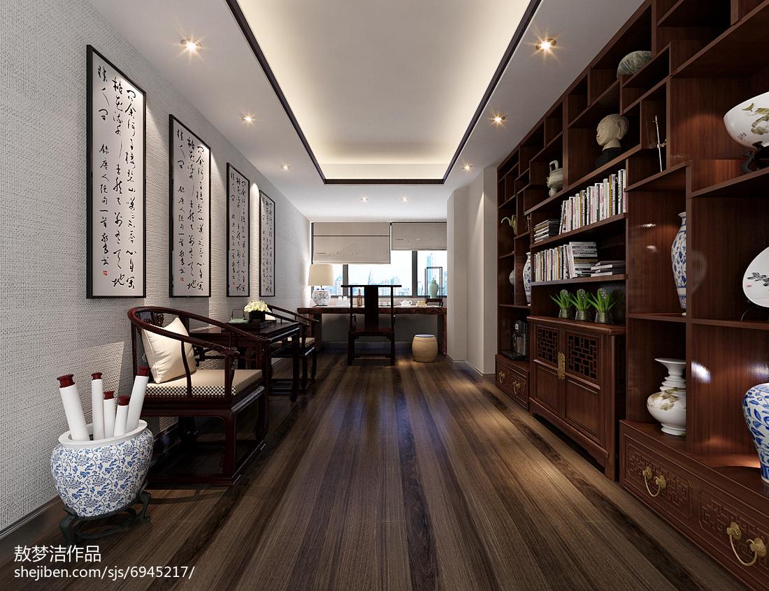 现代风格书房效果图设计