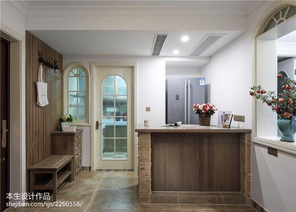 家居美式风格厨房装修效果图