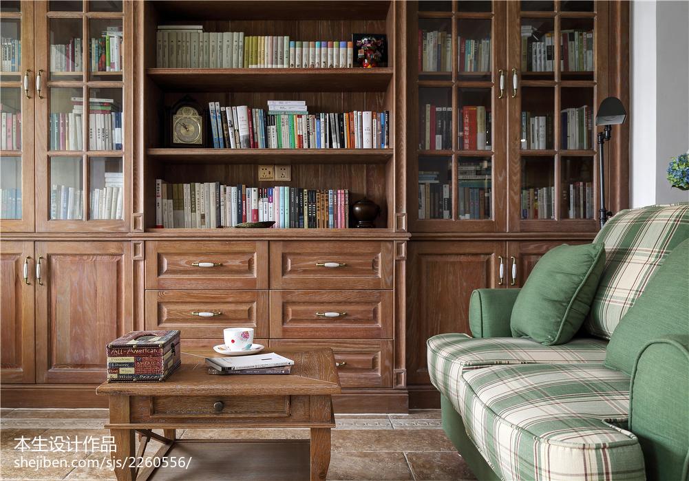精美美式复式客厅效果图片大全