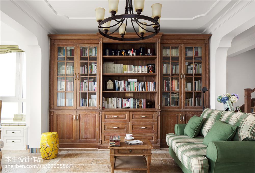 大气67平美式复式书房设计效果图