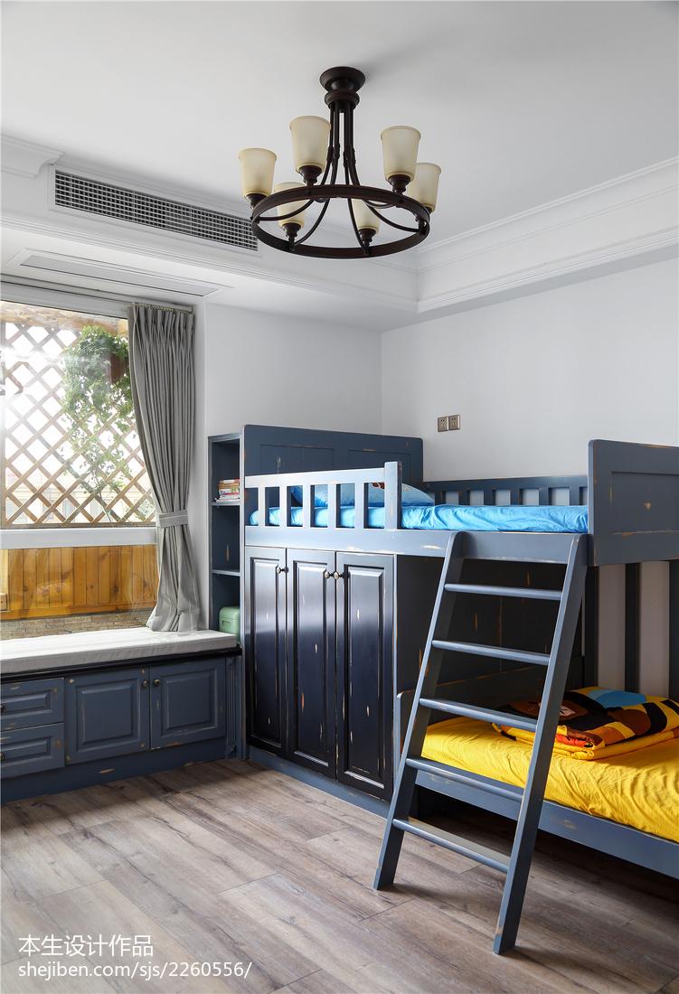 精美49平美式复式卧室装修美图