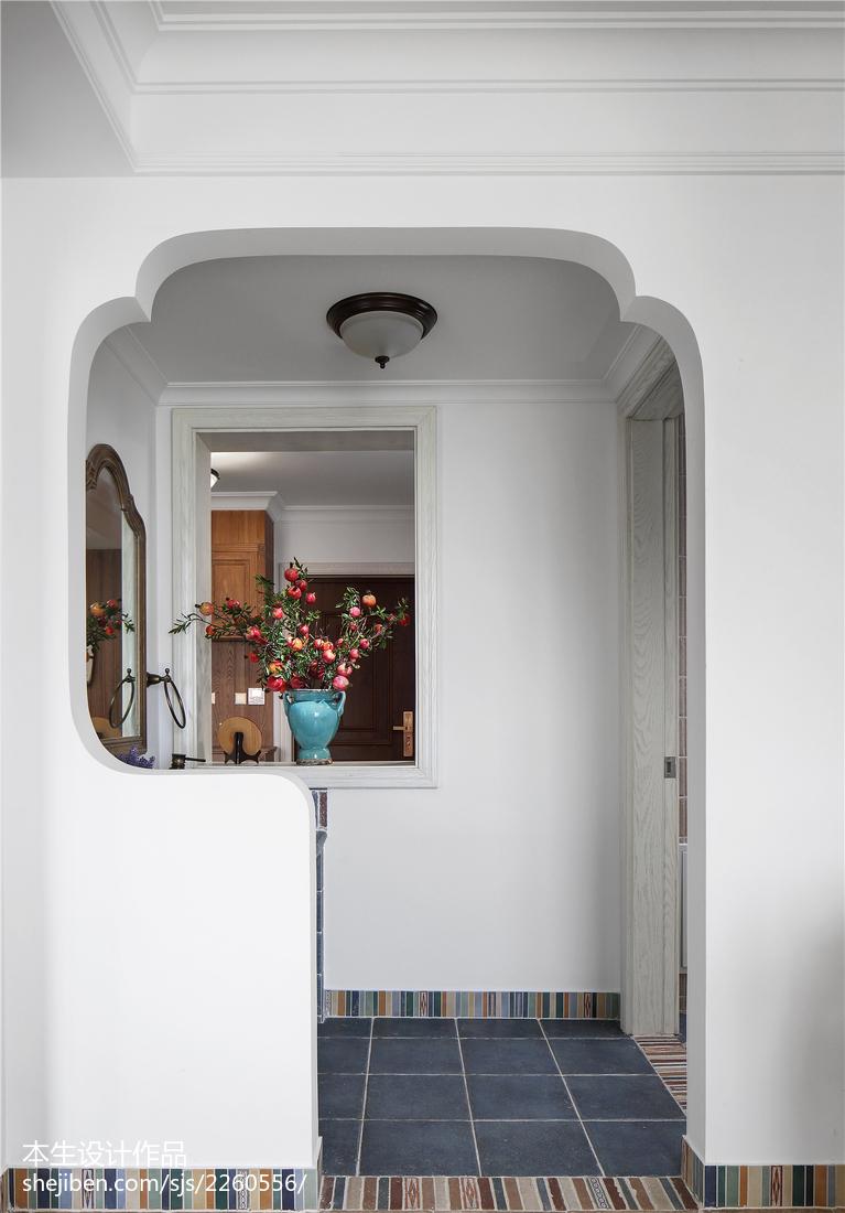 面积126平复式卫生间美式装修图片