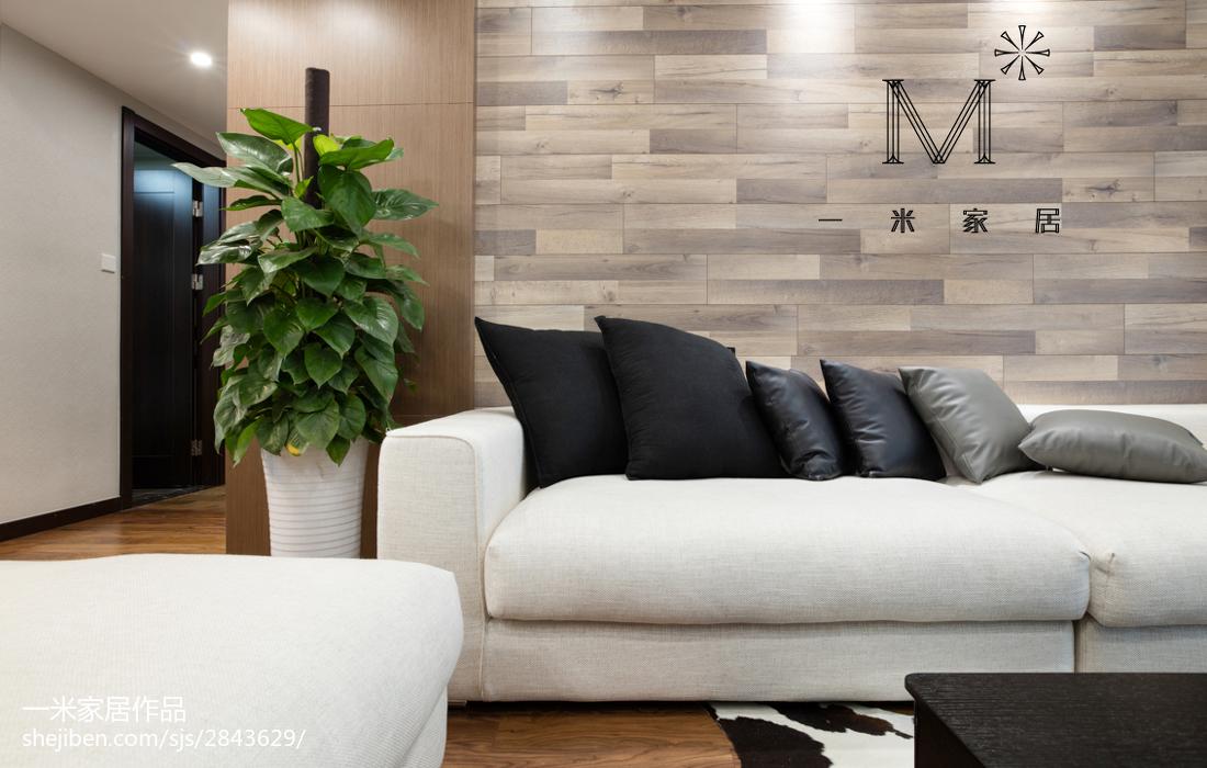 201890平米二居客厅现代装修设计效果图片大全