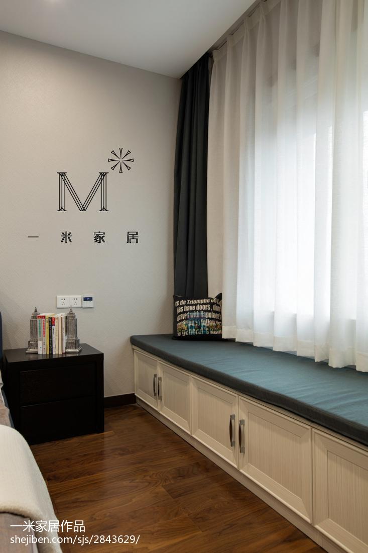 面积85平现代二居卧室装修图片大全