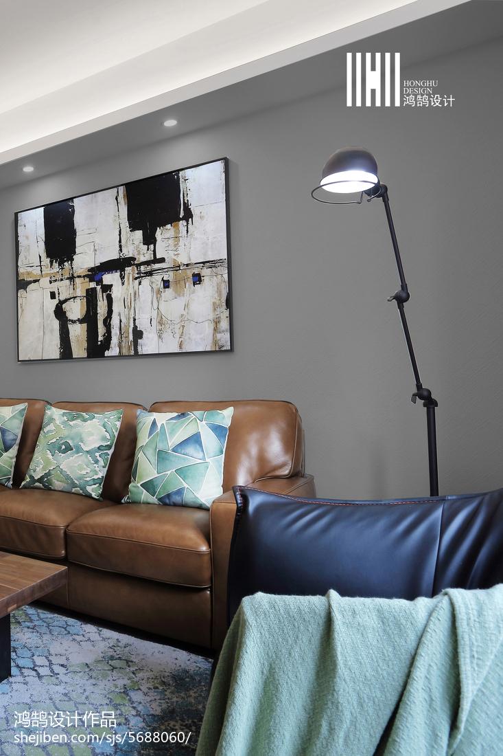 2018大小107平简约三居客厅装修效果图片欣赏