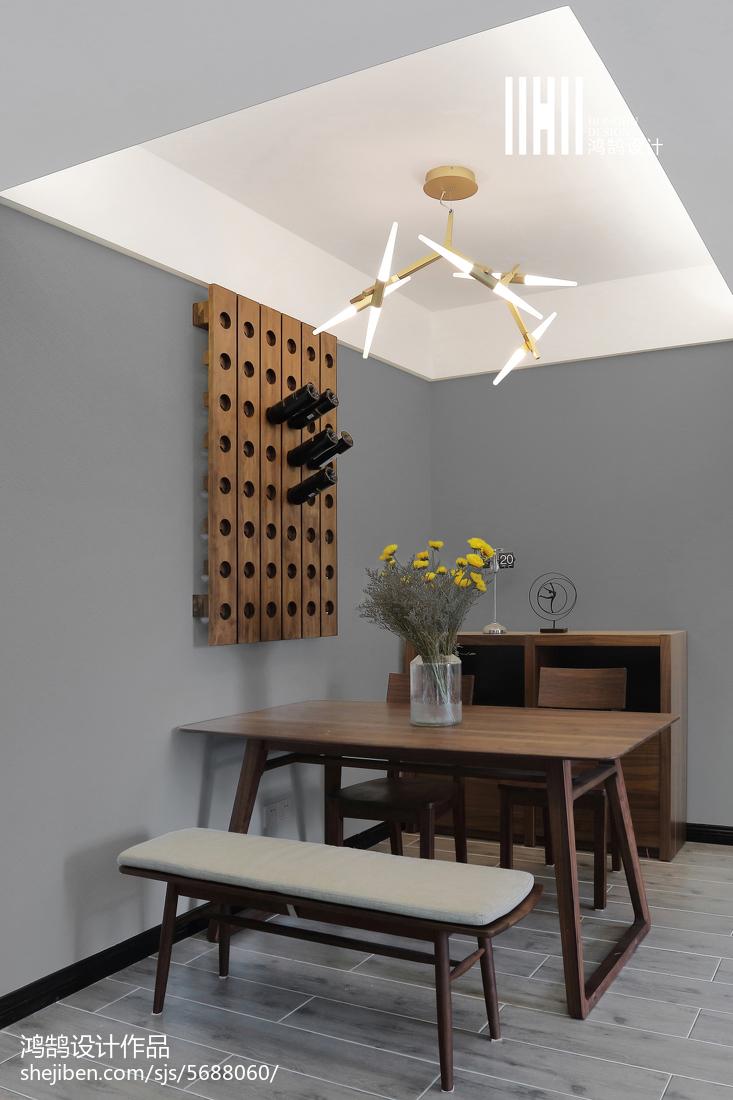 精选109平米三居餐厅简约装修实景图片欣赏