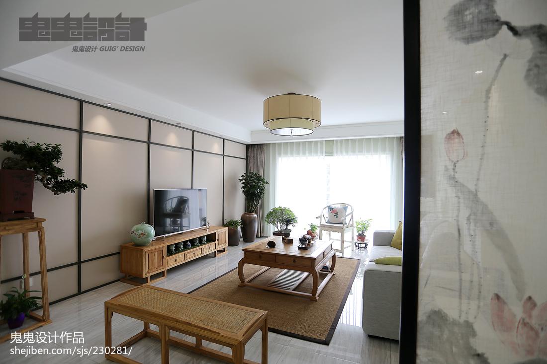 2018精选三居客厅中式装修实景图片