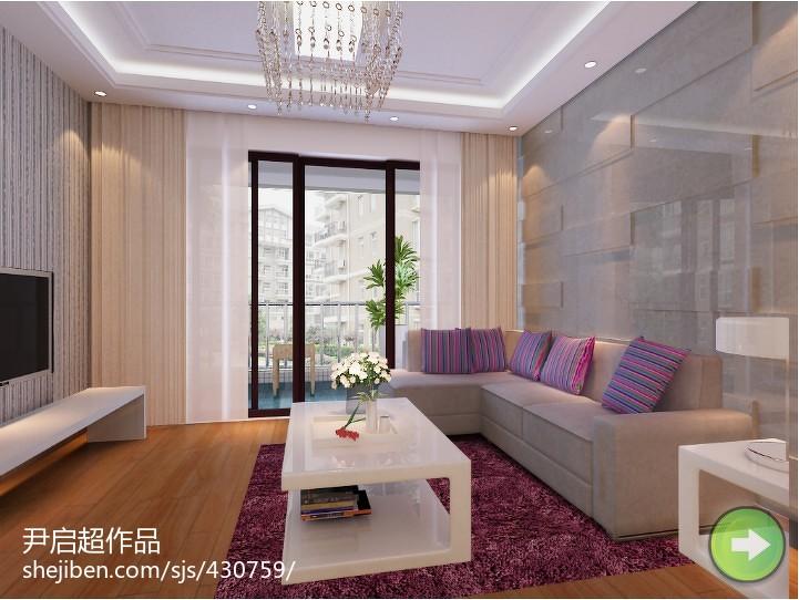 现代简约两居室装修设计图片