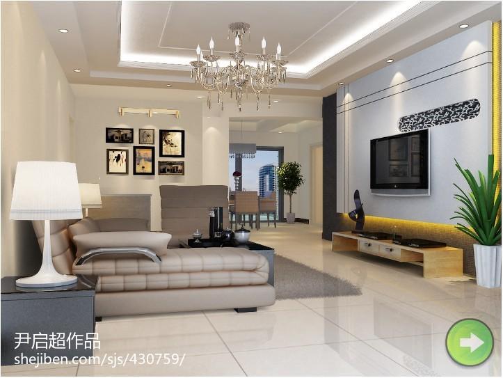 现代简约两居客厅装修设计图片