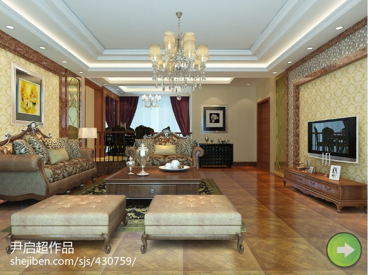 2014现代简约客厅装修效果图大全