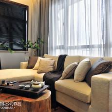 2018面积113平别墅客厅中式装修效果图