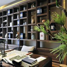 精美面积110平别墅书房中式装修实景图片大全